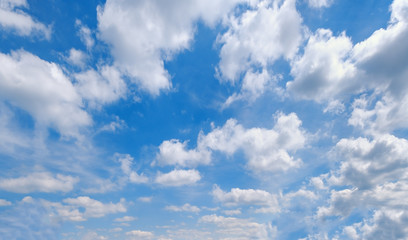 Wall Mural - Blue sky with clouds (wide background panorama).