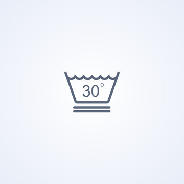 Delicate wash at a temperature up to 30 degrees icon