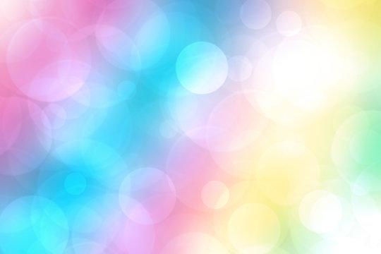 Colorful bokeh background blur