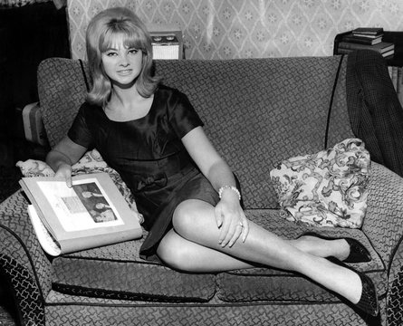 Mandy Rice-Davies at her home in Birmingham, England at the heighth of the Profumo scandal, June 18, 1963
