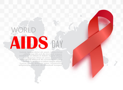 1st December, World Aids Day concept with stylish text on red background.