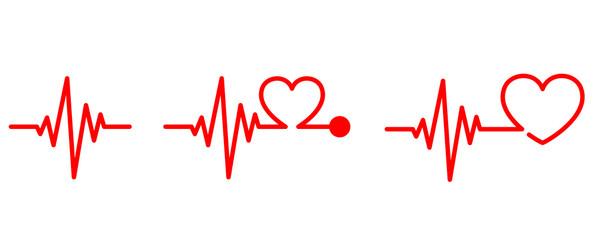 Heartbeat icon - vector.