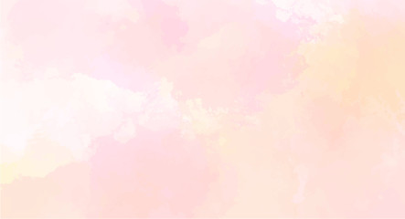 Pink watercolor background for your design, watercolor background concept, vector.