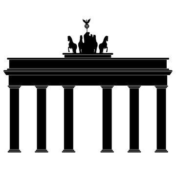 Symbol of Brandenburg gate in Berlin vector on a white background