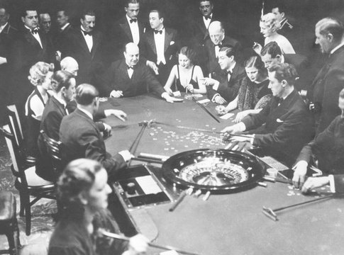 Gambling in Monte Carlo, on the French Riviera, February 20, 1934