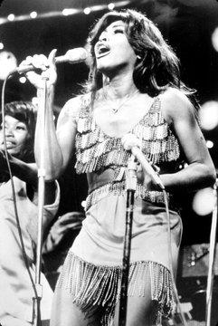 Tina Turner, during a performance, circa 1971