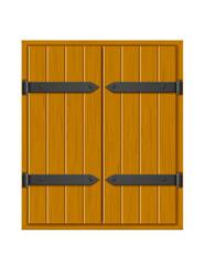 closed shutter wooden window for design vector illustration