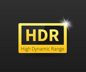 High Dynamic Range Imaging, High definition. HDR. Vector stock illustration.