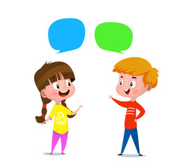 boy and a girl talking to each other