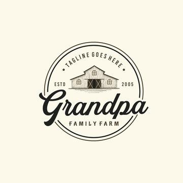 Vintage Farms Typography Logo Design Inspiration