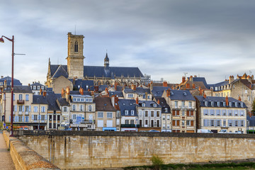 Fototapete - View of Nevers, France