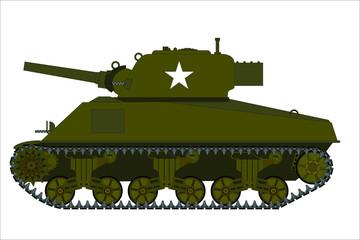 American WW2 M4 Sherman tank