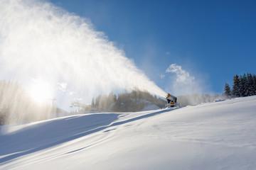 snow cannon in austria
