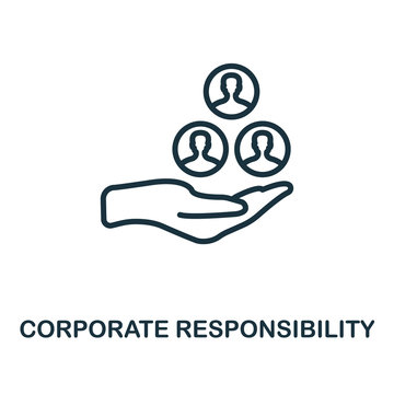 Corporate Responsibility icon outline style. Thin line creative Corporate Responsibility icon for logo, graphic design and more