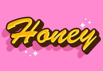Sweet Honey Text Effect