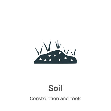 Soil vector icon on white background. Flat vector soil icon symbol sign from modern construction and tools collection for mobile concept and web apps design.