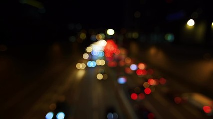 Fotomurales - bokeh light from night traffic on the highway
