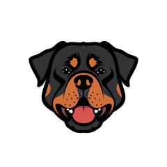 Rottweiler dog - vector illustration