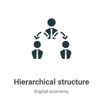 Hierarchical structure vector icon on white background. Flat vector hierarchical structure icon symbol sign from modern digital economy collection for mobile concept and web apps design.