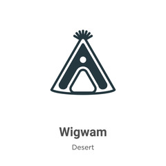 Wigwam vector icon on white background. Flat vector wigwam icon symbol sign from modern desert collection for mobile concept and web apps design.