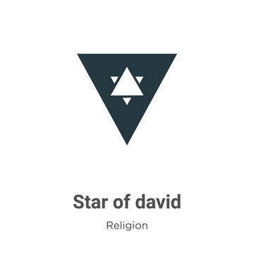Star of david vector icon on white background. Flat vector star of david icon symbol sign from modern religion collection for mobile concept and web apps design.