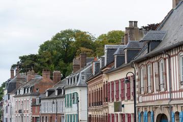 Gebäude in St.Valery-sur-Somme, Normandie, Frankreich