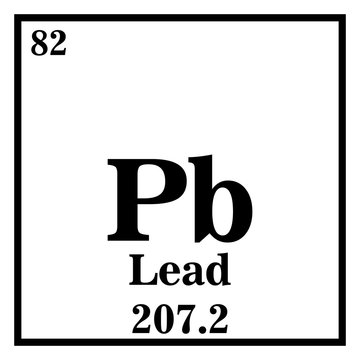 Lead Periodic Table of the Elements Vector illustration eps 10