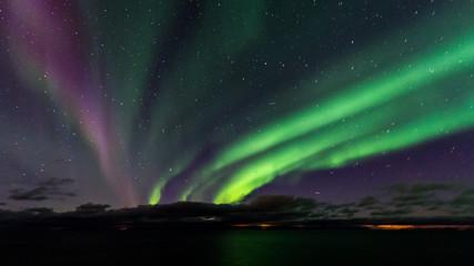 Foto auf Leinwand Nordlicht Nordlicht Nordlichter