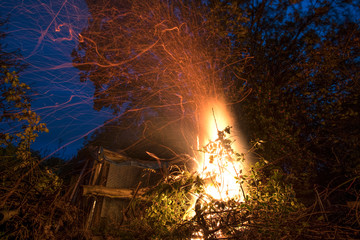 Garden blaze on bonfire night