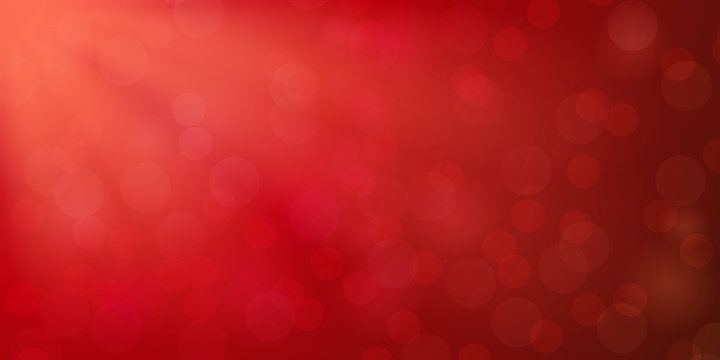 Abstract red shiny glitter bokeh christmas vector background