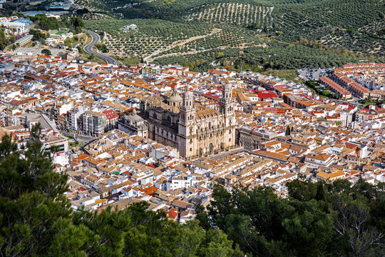 Panoramic view of Jaen, Spain