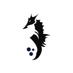 Stylized graphic Seahorse logo illustration