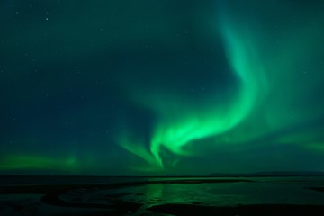 Northern Lights near Borgarnes Iceland
