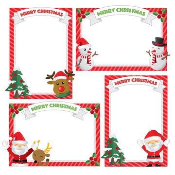 Set of Christmas frames,vector christmas border, christmas frame picture xmas