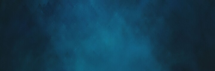 vintage abstract painted background with very dark blue, teal and teal green colors and space for text or image. can be used as header or banner