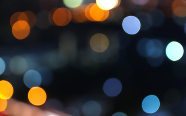 abstract bokeh lights on background