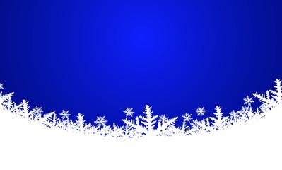 Vektor - Weihnachtlicher Hintergrund - Blau - Schnee - Textfreiraum