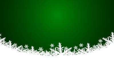 Vektor - Weihnachtlicher Hintergrund - Grün - Schnee - Textfreiraum