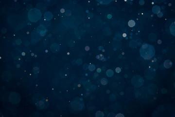 Abstract blue light blur bokeh circles Fototapete
