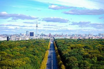 berlin panorama with tiergarten
