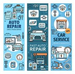 Vehicles diagnostics and repair, auto spare parts