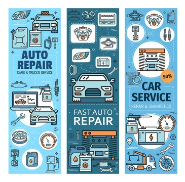 Vehicles diagnostics and repair, auto spare parts
