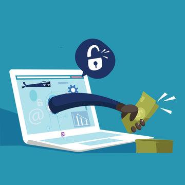 stolen password.conceptual illustration