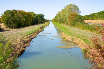 Canal de Berry in Centre-Val de Loire, France