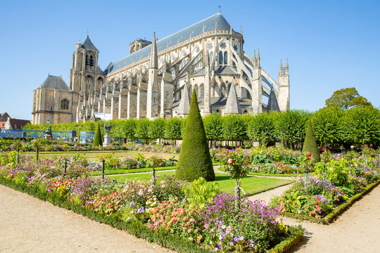 The historic Cathedral of Bourges in Centre-Val de Loire, France