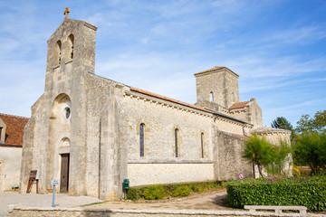 The historic church in Germigny-des-Prés, Centre-Val de Loire, France