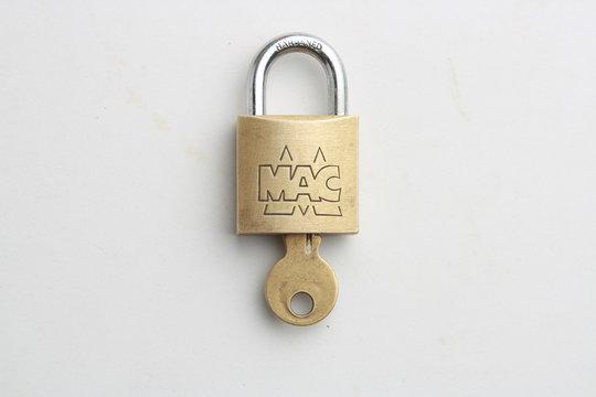 Saragossa Spain. September 18, 2019, Mac brand key lock