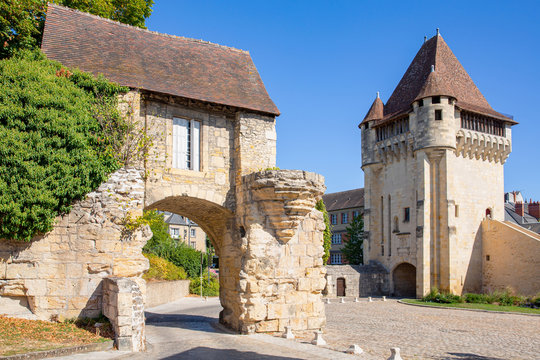 The medieval rampart and gates in Nevers, Burgundy, France