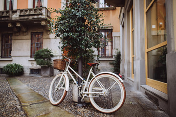 Fotobehang Fiets old bicycle on the street