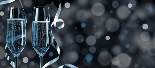 Blue-silver Silvester Background